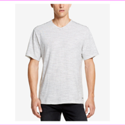 DKNY Mens Short Sleeve Twisted Textured Stripe T-Shirt   M/Marshmallow