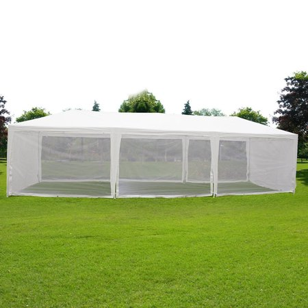 Quictent 10X30 Canopy Gazebo Party Wedding tent Screen House Sun Shade Shelter with Fully Enclosed Mesh Side Wall