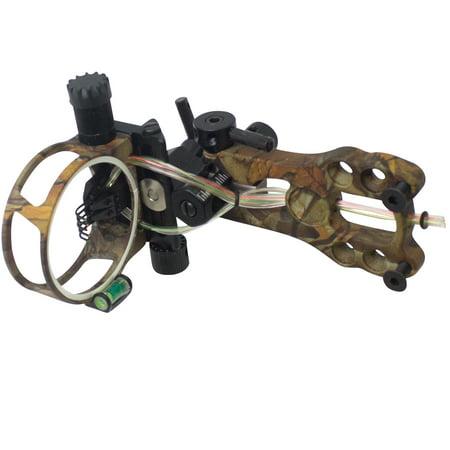 SAS 5 Pins .019 Fiber Optic Bow Sight with Micro Adjustments and LED