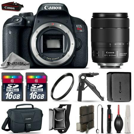 Canon EOS Rebel T7i DSLR Camera + 18-135mm USM + EXT BATT + UV Filter - 32GB Kit