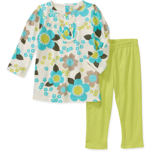 Child of Mine Carters Newborn Girls' 2-Piece Flower Print Top and Pant Set