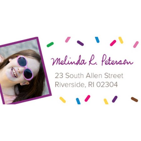 Sprinkle Pattern Personalized Address Label](Personalized Labels)