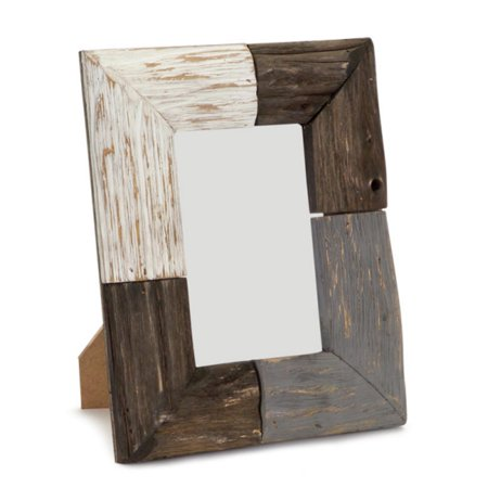 Pack of 4 Brown, Gray and White Rustic Natural Wood Picture Frames 9 ...