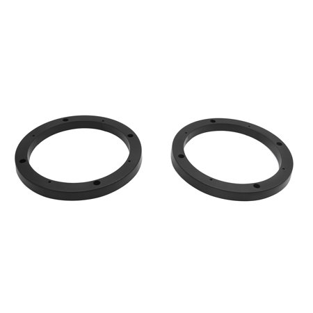 "2pcs Universal Black 7"" Car Stereo Audio Speaker Mounting Spacer Rings Holder"