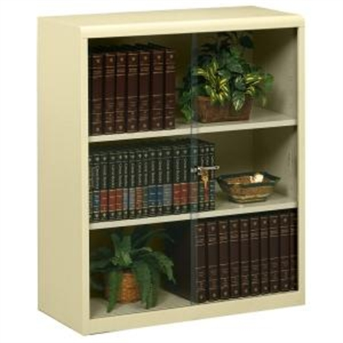 Tennsco Heavy-guage Steel Bookcase With Glass Doors 342GLPY