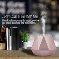 Ejoyous Diamond Humidifier, Mini Air Humidifier,180ml Mini Diamond Shape Air Humidifier Home Car Office Aroma Diffuser