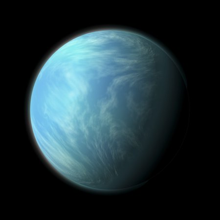 Artists depiction of Kepler 22b a planet within the habitable zone of a type G star about 600 light years from Earth in the constellation Cygnus Poster Print (Planet Zane)