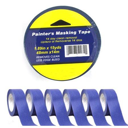 Blue Taper - 6 Rolls Painters Masking Paint Tape Blue 1.89