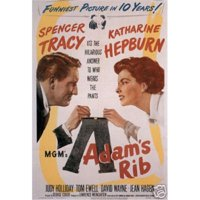 "adam's rib spencer tracy katharine hepburn vintage movie poster, 12"" x 18"""