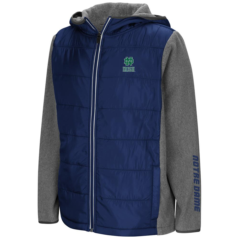 Youth Notre Dame Fighting Irish Full Zip Puff Jacket - S