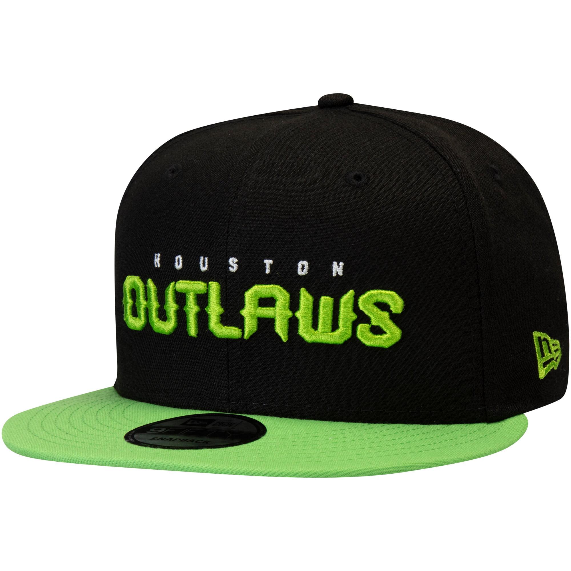 Houston Outlaws Overwatch League New Era Two-Tone Team Snapback Adjustable Hat - Black - OSFA