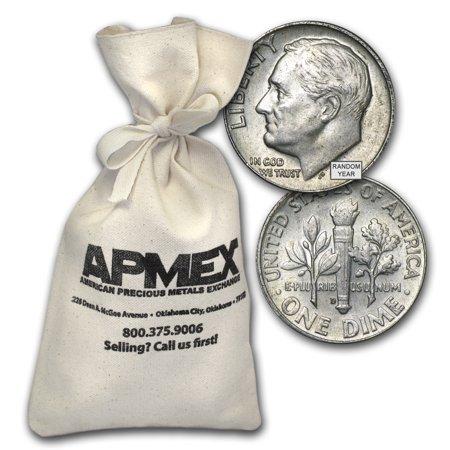 90% Silver Roosevelt Dimes $100 Face-Value Bag