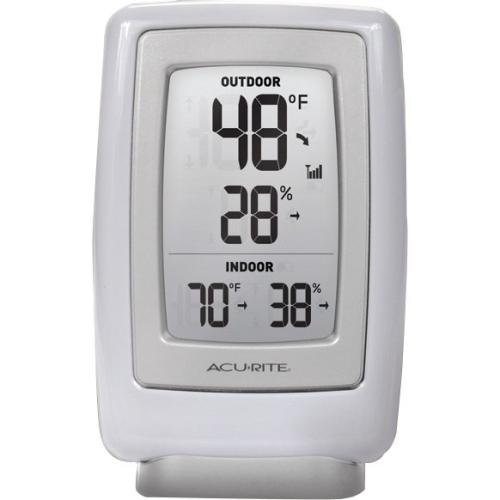 AcuRite 00611A2 AcuRite Digital Indoor / Outdoor Temperature & Humidity Monitor - ± - ±5% Humidity Accuracy