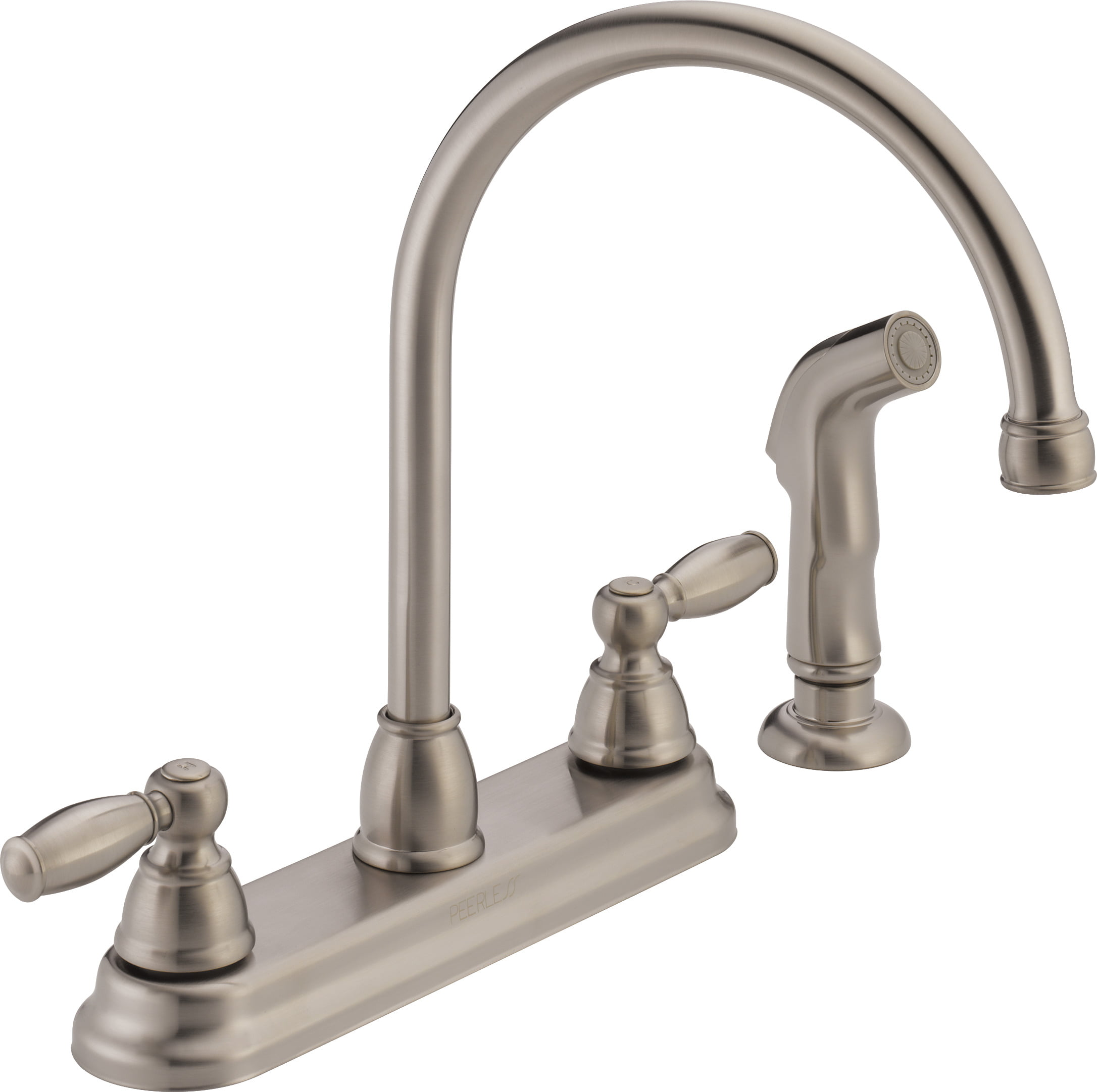 Peerless Apex Two Handle Kitchen Faucet with Side Sprayer in Stainless P299575LF-SS-W