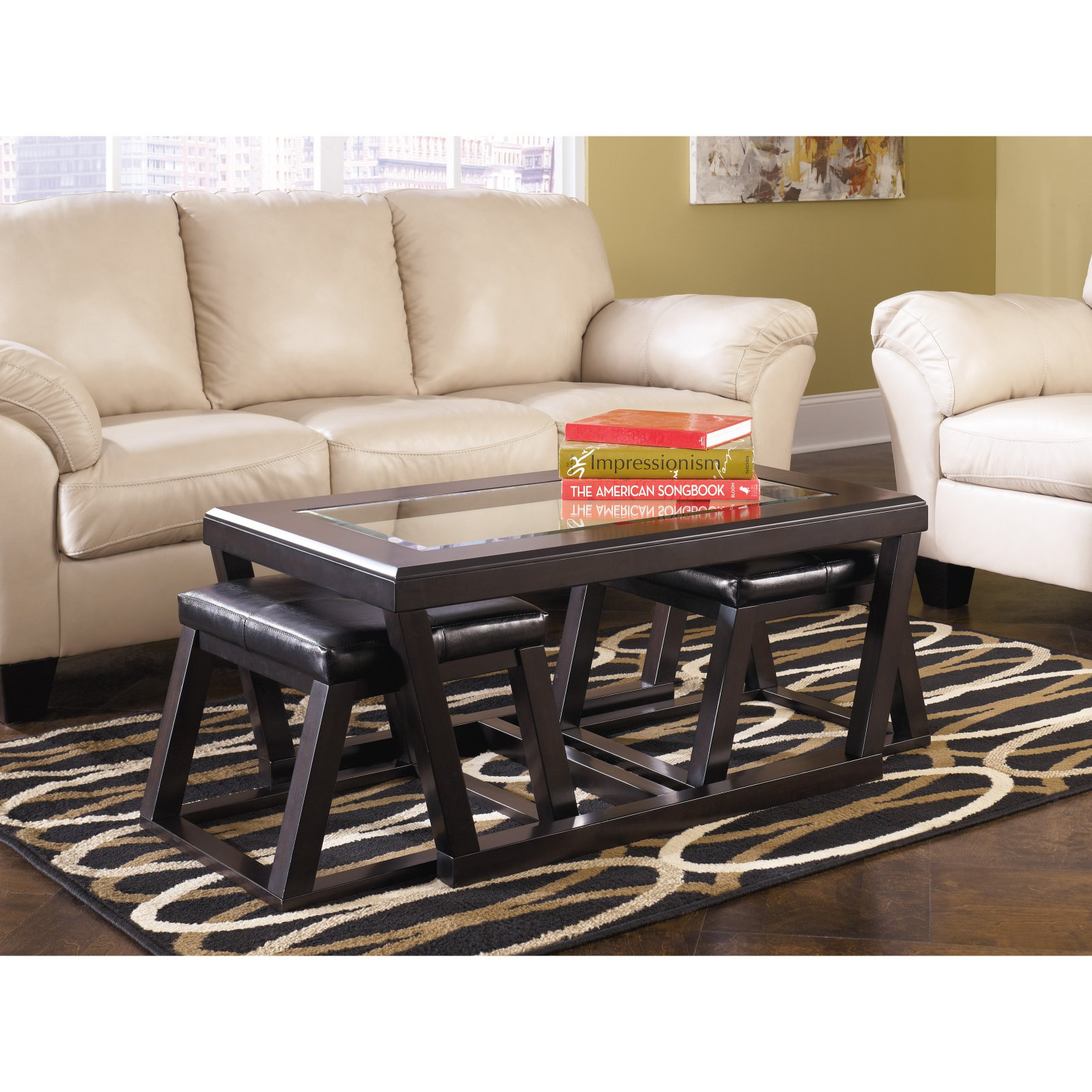Signature Design By Ashley Kelton 3 Piece Coffee Table Set