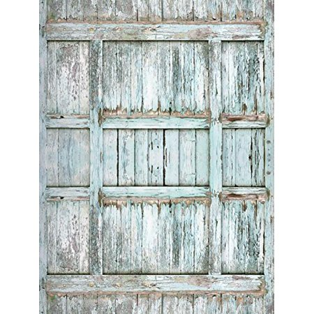 Abphoto Polyester 5x7ft Wood Texture Barn Door Newborns Portraits