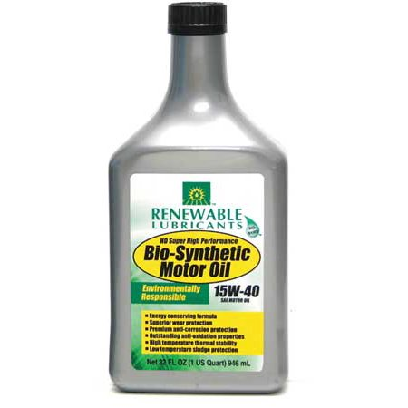 Renewable Lubricants Engine Oil Bio Synthetic 1 Qt  15W40 85351