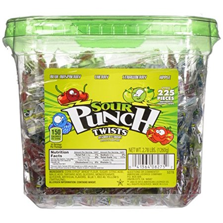Sour Punch 3 Individually Wrapped Assorted Flavor Twists (Pack of 2)