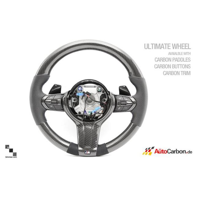 Bimmian STW10FCCY Auto Carbon Fiber Alcantara Steering Wheel For F10 M5 & M-Sport Wheel With Paddles