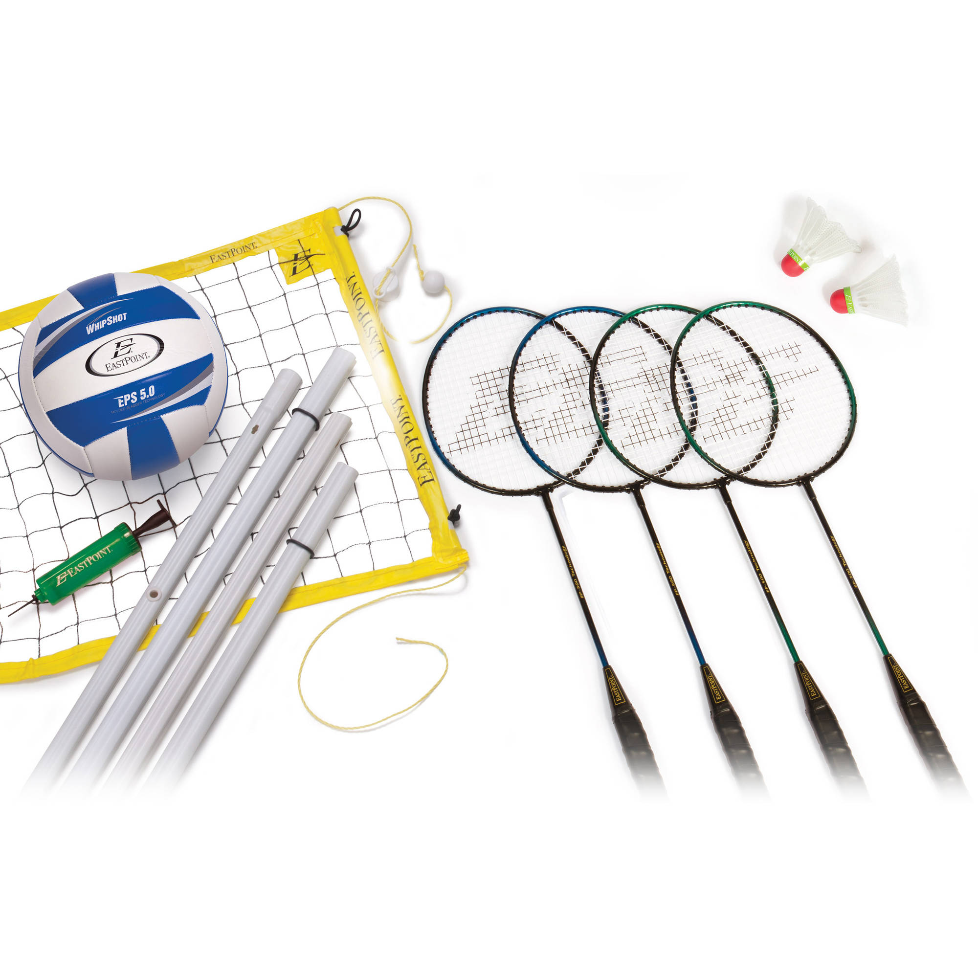 EastPoint Sports Volleyball Badminton Set with Roll-Up Carrier