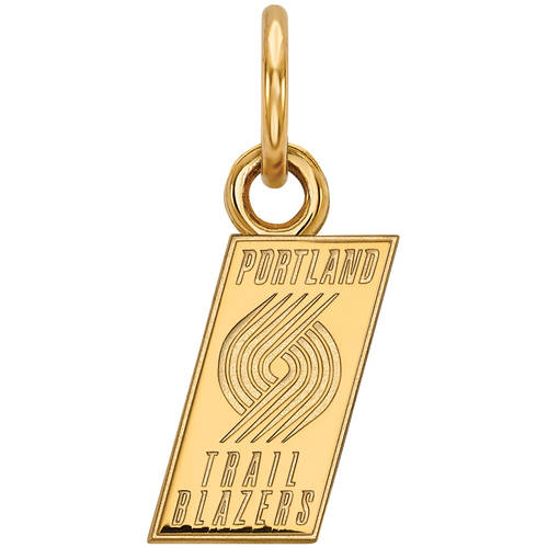 LogoArt NBA Portland Trail Blazers 10kt Yellow Gold Extra Small Pendant