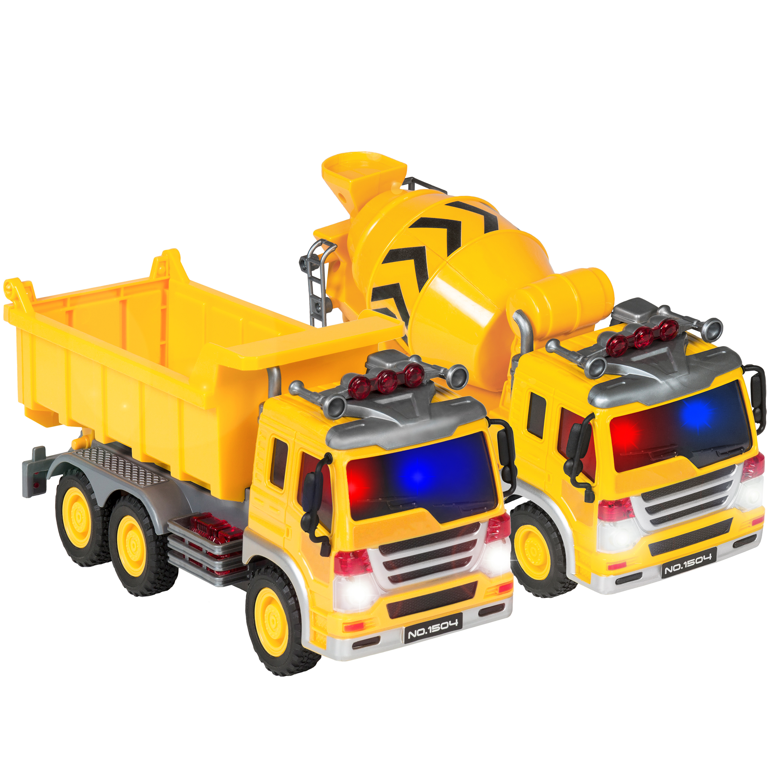 Best Choice Products Kids 2-Pack Assembly Push-And-Go Construction Trucks Vehicles Cement... by