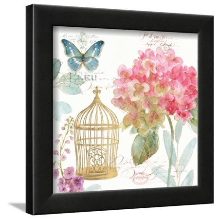 (Rainbow Seeds Floral Birdcage II Framed Print Wall Art By Lisa Audit)