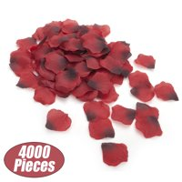 Aspire 4000 Pieces Silk Rose Petals, Artificial Flower Confetti for Wedding Party Gift Decoration-Burgundy
