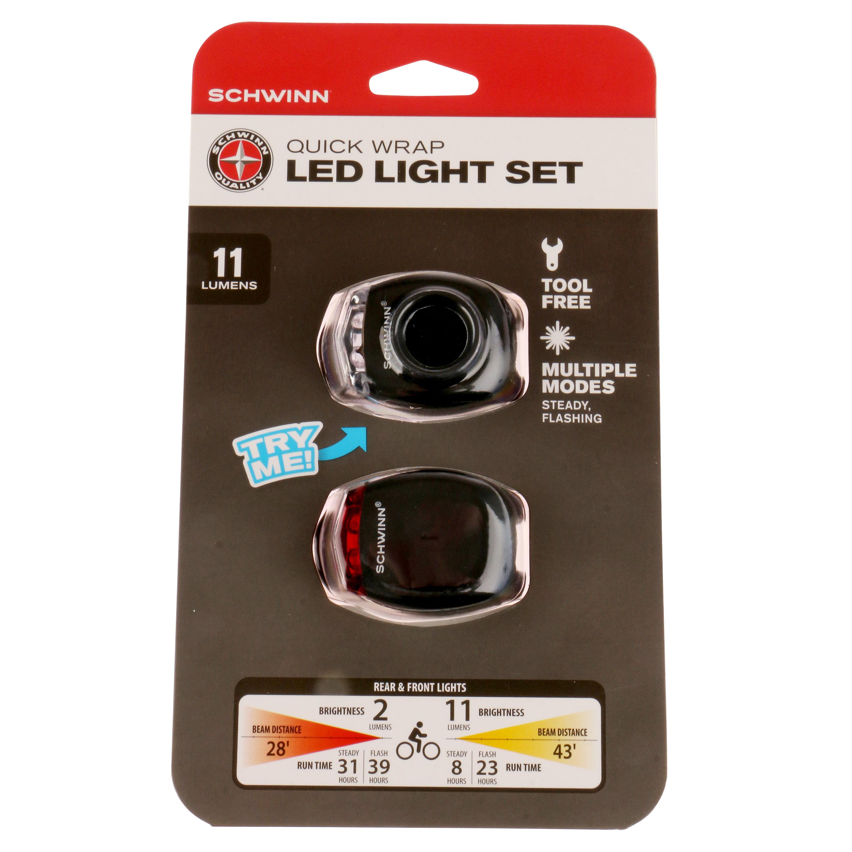 Schwinn 11 Lumen Quick Wrap Light Set