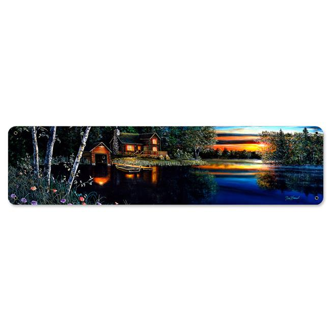 8 x 24 in. Summer Evening Satin Metal Sign - image 1 of 1