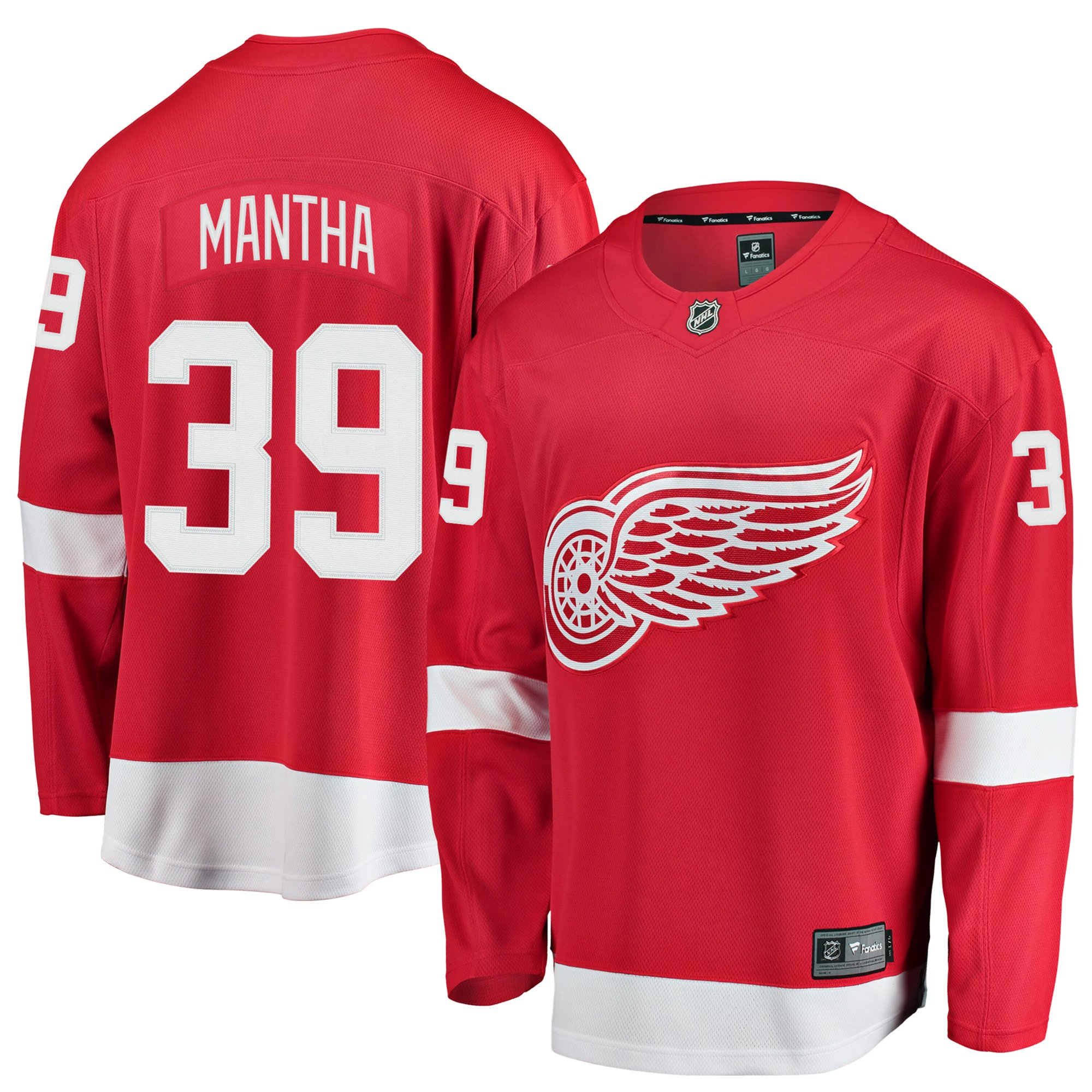promo code e62ec 61eb0 Anthony Mantha Detroit Red Wings NHL Fanatics Breakaway Home Jersey