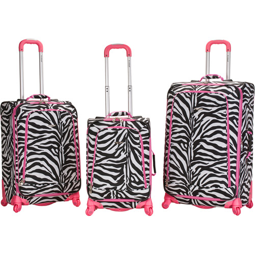 Rockland Deluxe Fashion Prints 360 Degree Spinner 3-Piece Luggage Set - Love