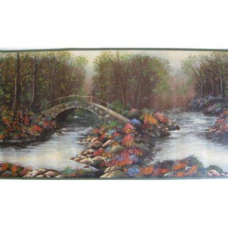 879050 Stone Bridge Over Stream Wallpaper Border 5803310