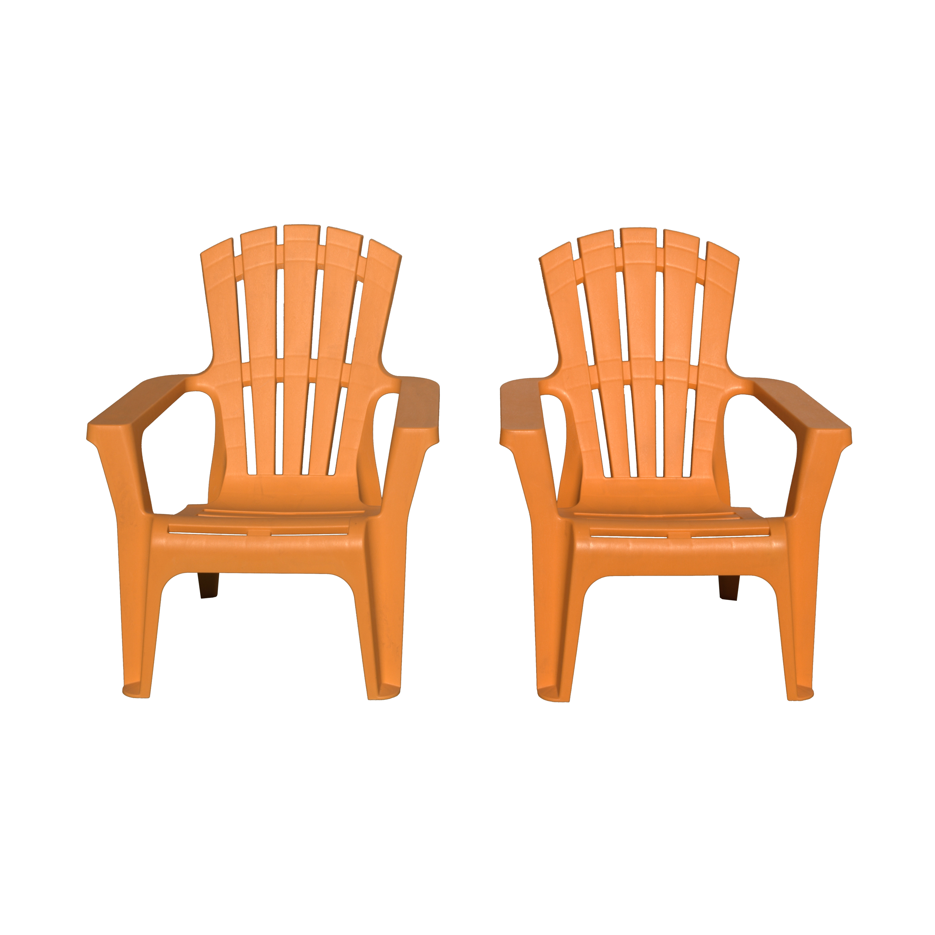 Stackable Adirondack Chairs in Orange (Set of 2)