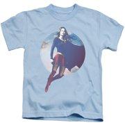 Supergirl Cloudy Circle Little Boys Shirt