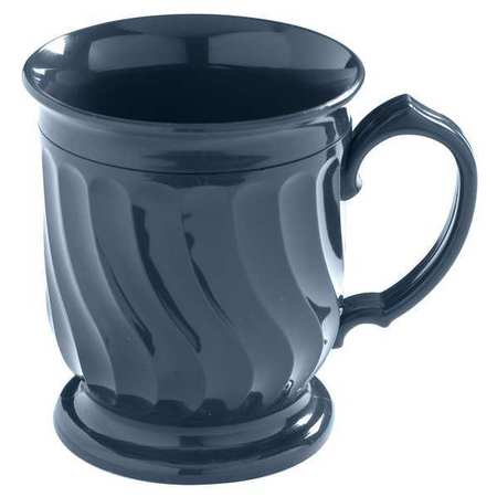 CARLISLE DINEX DX300050 Mug, Insulated, H 4 In, Blue, PK, 48