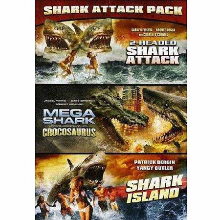 Shark Attack Pack  Mega Shark Vs  Crocosaurus   2 Headed Shark Attack   Shark Island  Widescreen