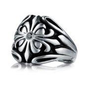 Men's 9 mm Cobalt Chrome Black Diamond Accent Ring Size 13