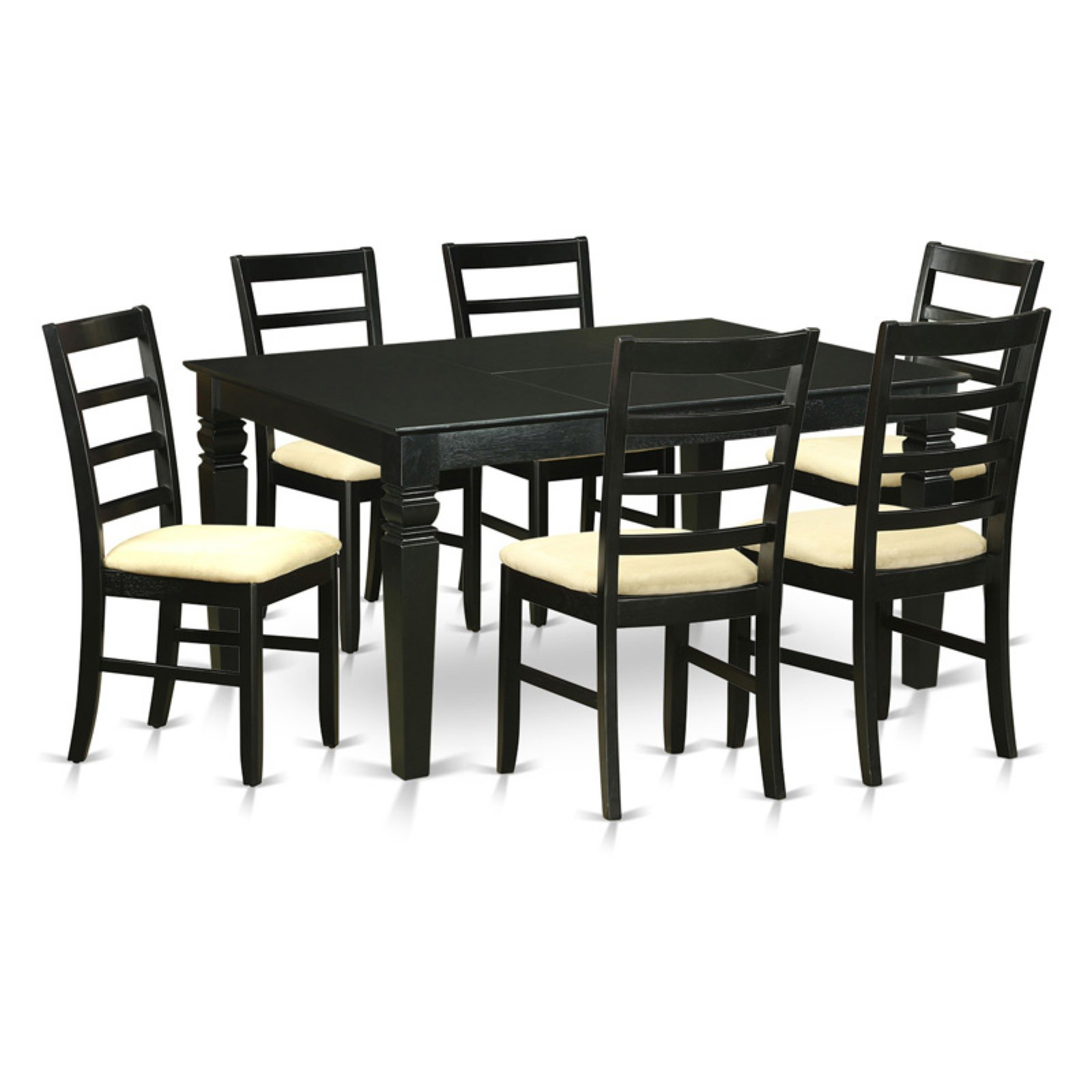 East West Furniture Weston 7 Piece Shaker Dining Table Set