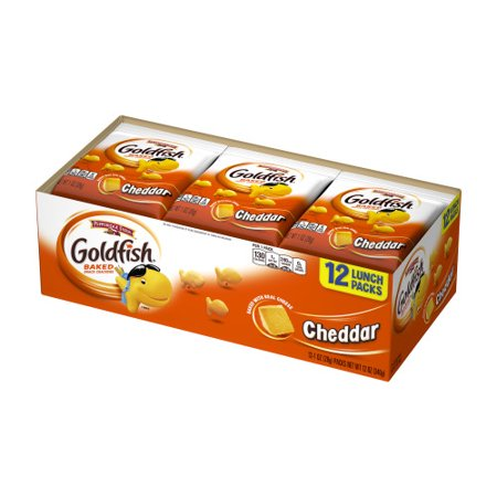 Pepperidge Farm Goldfish Cheddar Crackers, 12 oz. Multi-pack Tray, 12-count 1 oz. Single-Serve Snack (Healthy Snacks For Toddlers On The Go)