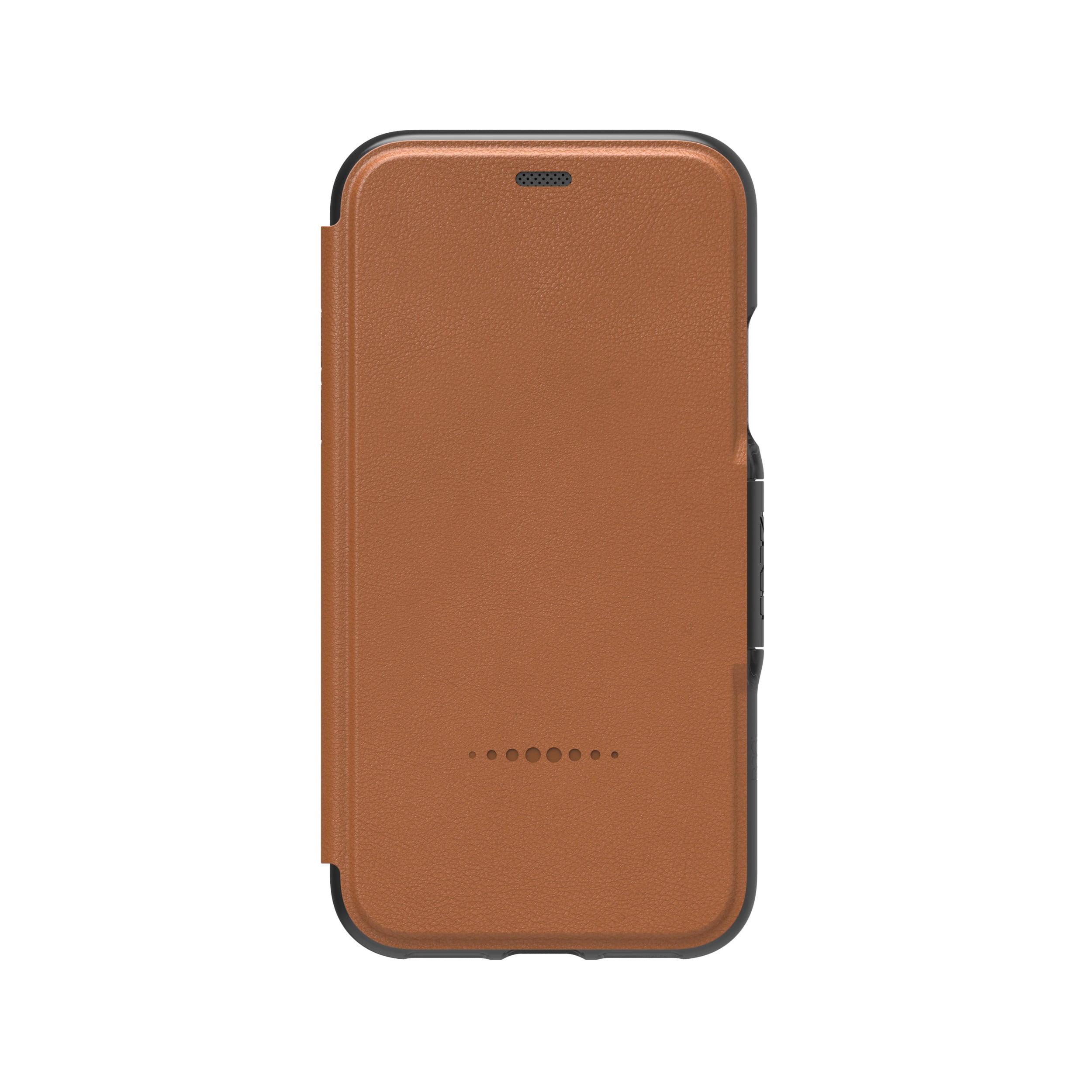 b4b1301556b5a GEAR4 iPhone X/Xs D3O light tan Oxford Leather BookCase - IC8OXLVBWN