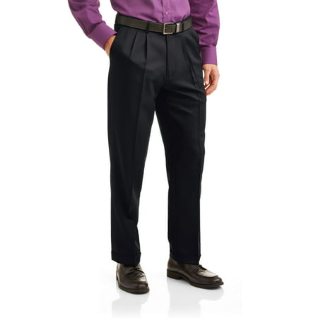 - Big Men's Microfiber Performance Pleated Dress Pant