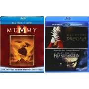 Frankenstein Dracula + The Mummy Blu Ray Amazing Fantasy Triple Monster Movie Feature Bram Stoker & Mary Shelly Classics by
