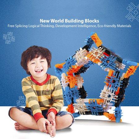 94PCS Snowflakes Children's Puzzle Kids Building blocks DIY Assembly Toys Enlighten Wisdom Design Boys Girls - image 8 of 8