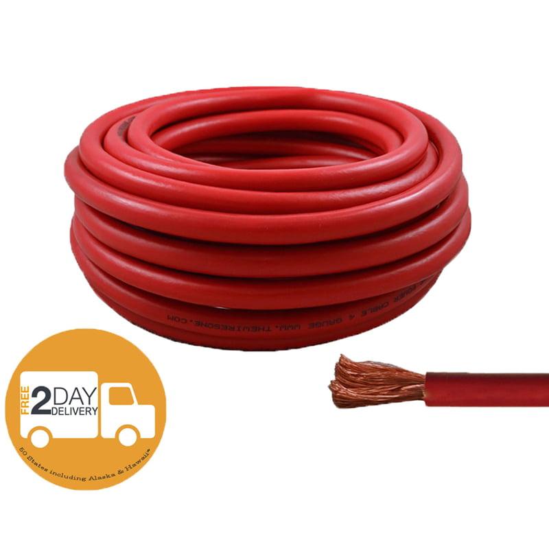 4 Ft Black Ground 18 Ft Red 10 Gauge Power Wire