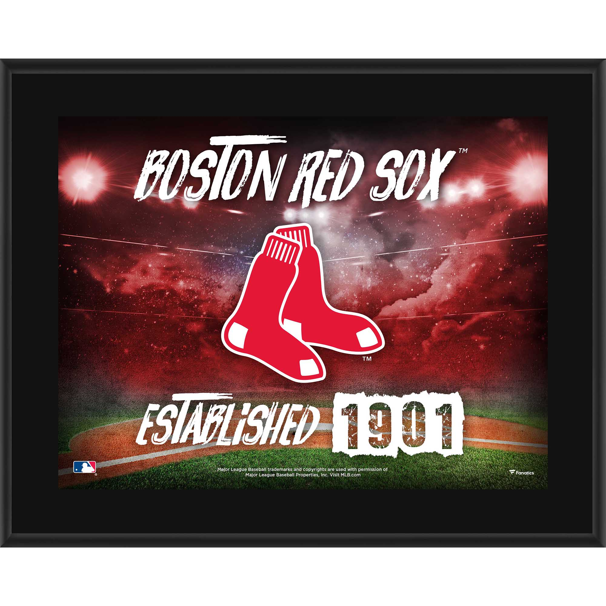 "Boston Red Sox Fanatics Authentic 10.5"" x 13"" Sublimated Horizontal Team Logo Plaque - No Size"