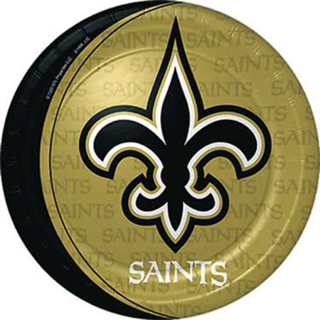 New Orleans Saints 9 inch Lunch/Dinner Plates - Hallmark - New Orleans Saints Party Decorations