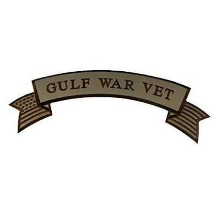 LARGE GULF WAR VET TOP ROCKER PATCH IRAQ DESERT STORM VETERAN BIKER VEST CUT Desert Storm Vet Patch
