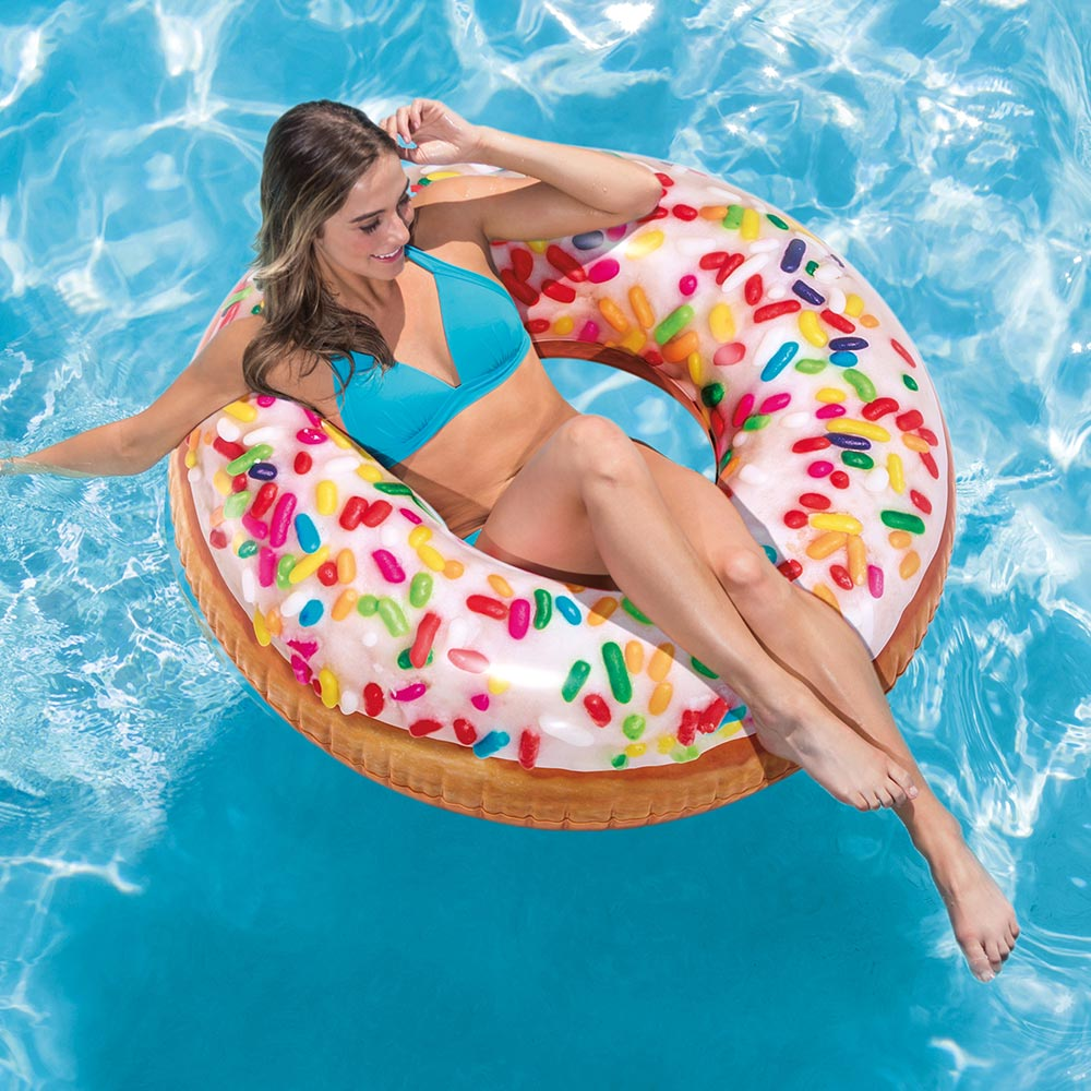Intex Inflatable Sprinkle Donut Pool Tube, 45""