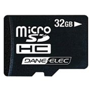 Dane-Elec 3-in-1 Mobile Kit - Flash memory card ( microSDHC to SD adapter included ) - 32 GB - Class 4 - microSDHC - black